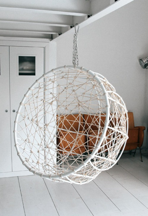 Hanging Metal Hemisphere Chair Garden