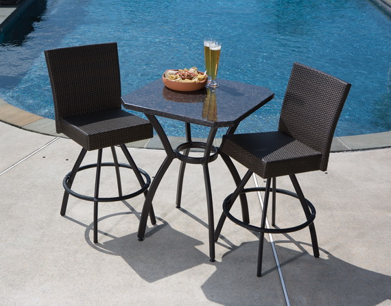 Outdoor Wicker Bar Sets