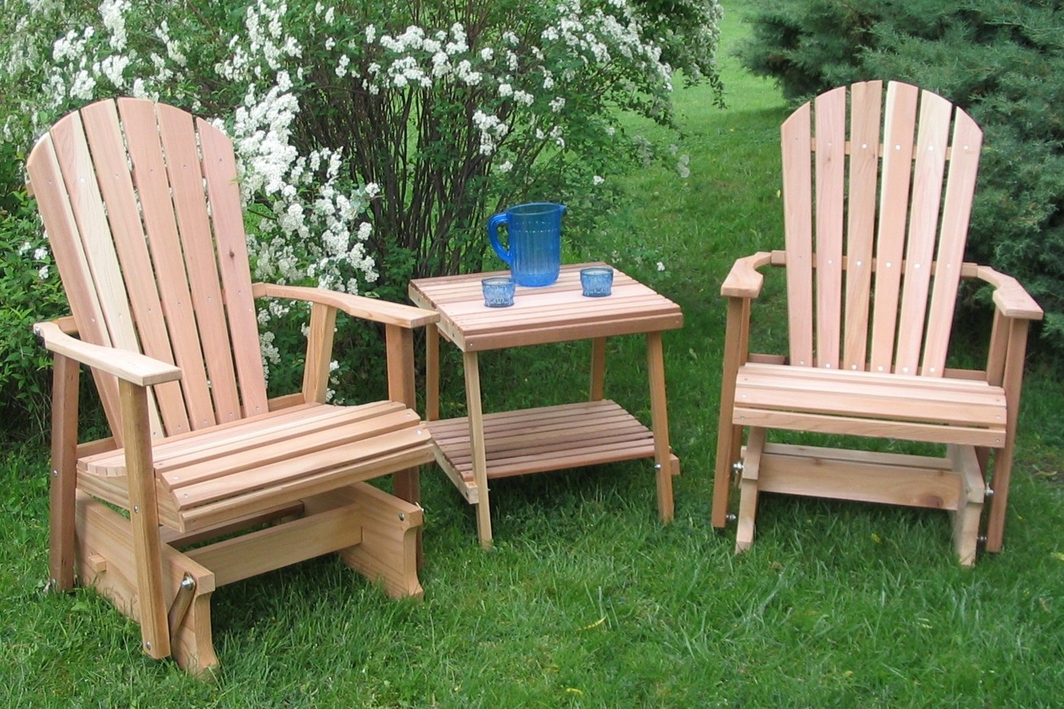 Wooden Lawn Chairs ~ Lawn glider furniture home designs project