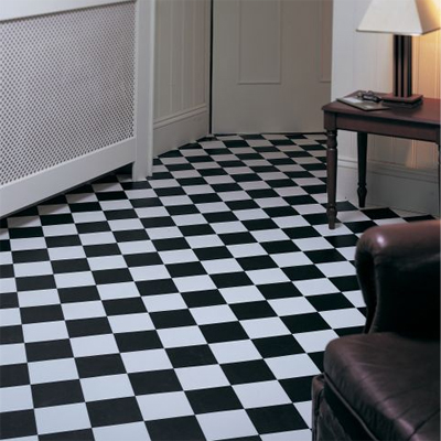 Black and White Vinyl Floor