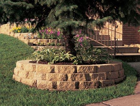 Decorative Retaining Wall for Houses