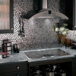 Metallic Tile Backsplash