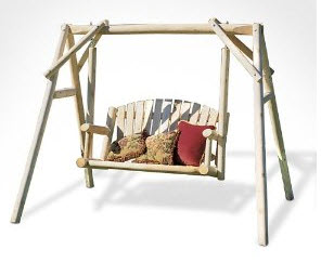 Outdoor yard swings plans home designs project for Log swing plans