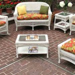 White Outdoor Wicker Furniture