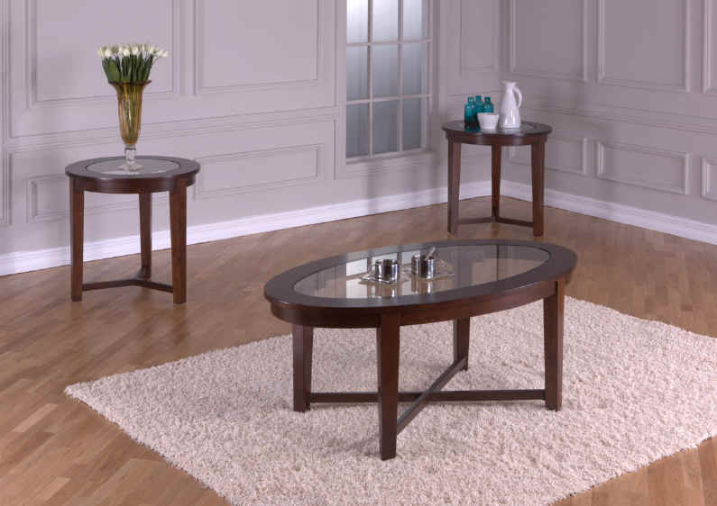 occasional table sets glass