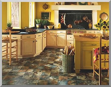 Armstrong Vinyl Floor Tiles in floral