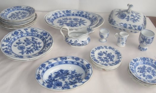 Blue and White Dinnerware Meissen