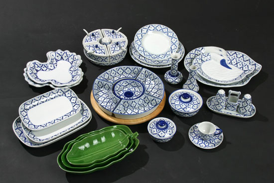 Blue and White Dinnerware