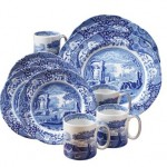 Blue and White Toile Dinnerware Sets