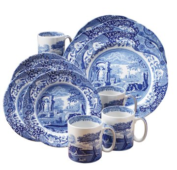 dinnerware sets unique on ... and White Toile Dinnerware Sets | Blue and White  sc 1 st  Beach Dinnerware Sets : white dinnerware sets for 12 - pezcame.com