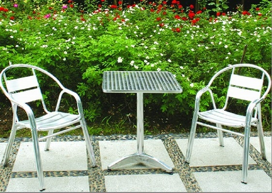 Cast Aluminum Bistro Chairs