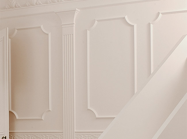 Decorative wall panelling home designs project for Decor moulding