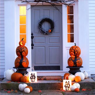 Front Door Halloween Decorations