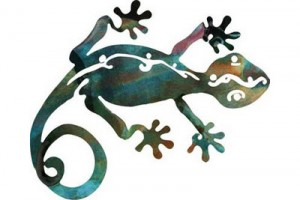 Eternity Gecko Metal Wall Art