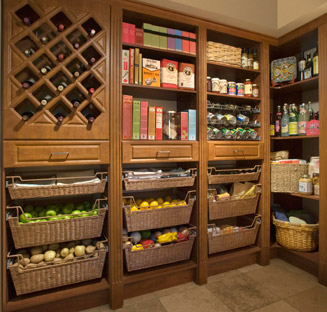 Organize your pantry storage systems