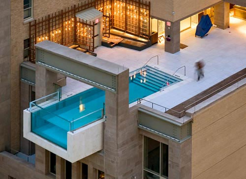 Rooftop swimming pool design ideas pictures