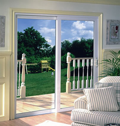 Sliding Door With Vinyl
