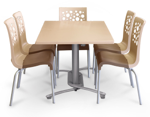 Stackable chairs and table