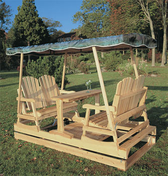 Wooden outdoor swings ideas