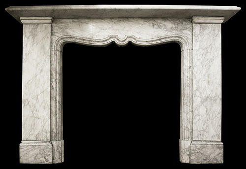 carrara marble fireplace surround