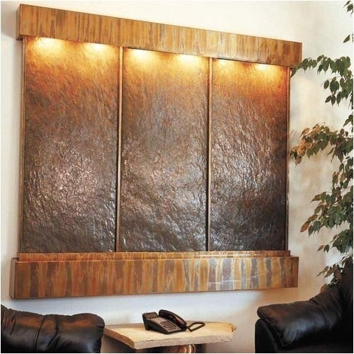 copper wall fountain design