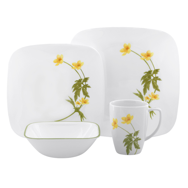corelle dinnerware patterns buttercup