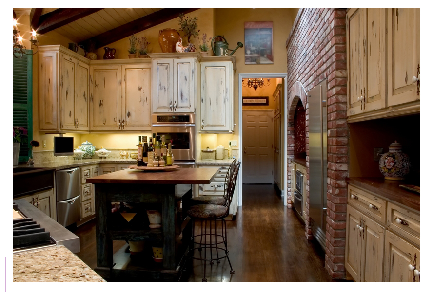 Country kitchen ideas pictures home designs project Rustic kitchen ideas for small kitchens