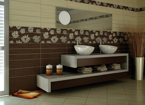 Decorative mosaic bathroom wall tiles home designs project - Decorative bathroom tiles ...