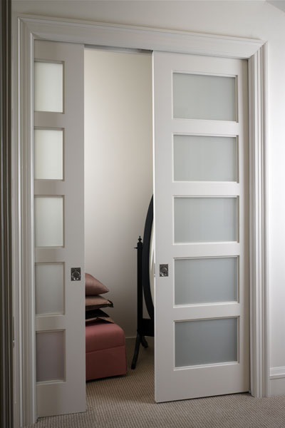 Glass pocket doors interior | Glass pocket doors design ...