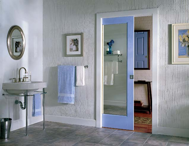 glass pocket doors frosted