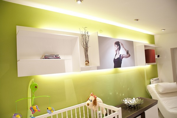Wall Decor Nursery Room in Small Apartment Design Glamorous Yet