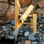 rocking bamboo fountain design