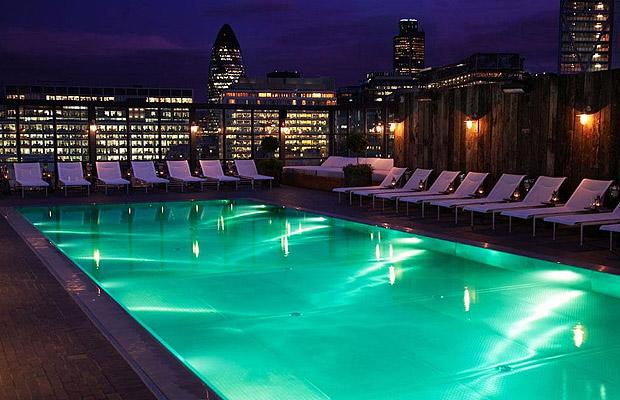 rooftop swimming pool london