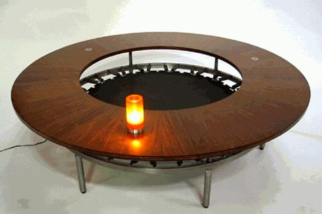 trampoline coffee table
