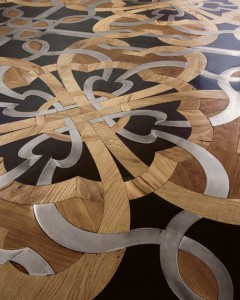 Stone and wood combination floor