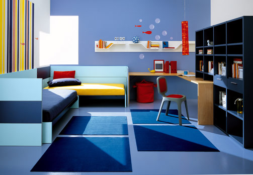 boys bedroom furniture blue