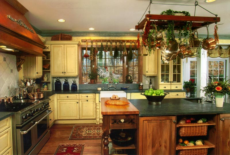Country kitchen designs photo gallery home designs project Country style kitchen ideas