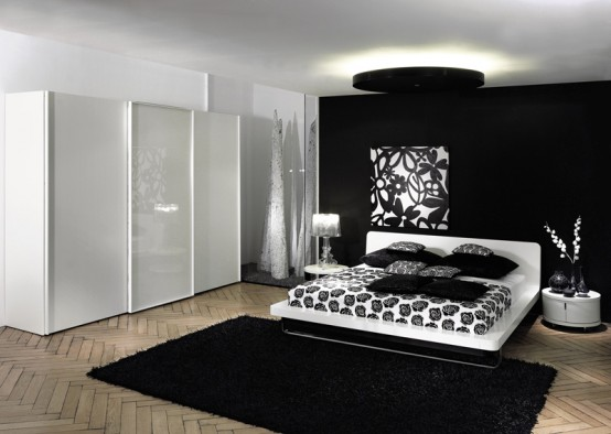 black contemporary bedroom furniture set | Home Designs Project