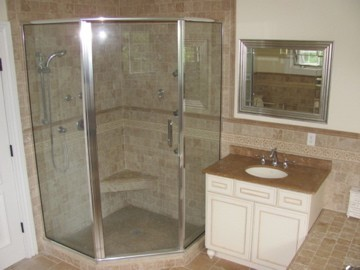 Stand up shower bathroom | Home Designs Project