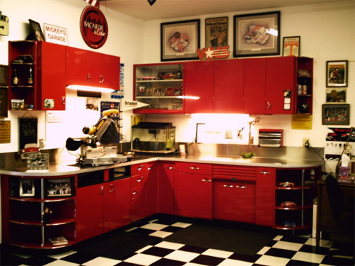 Red Kitchen Cupboards : red kitchen cabinets red kitchen cabinets red kitchen cabinets