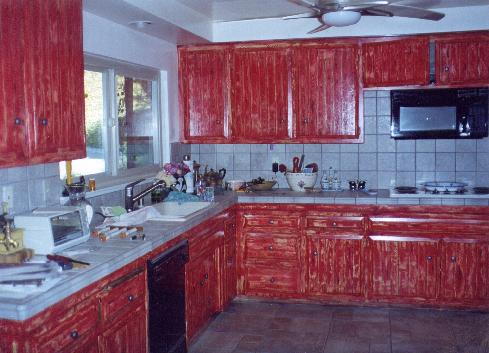 barn red kitchen cabinets home designs project