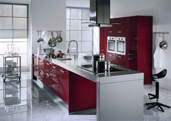 Red kitchen cabinets Ikea | Home Designs Project