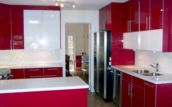 Exceptionnel Red Kitchen Cabinets Ikea