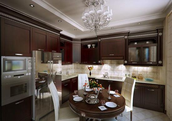 Contemporary classic interior design home designs project for Classic kitchen decor