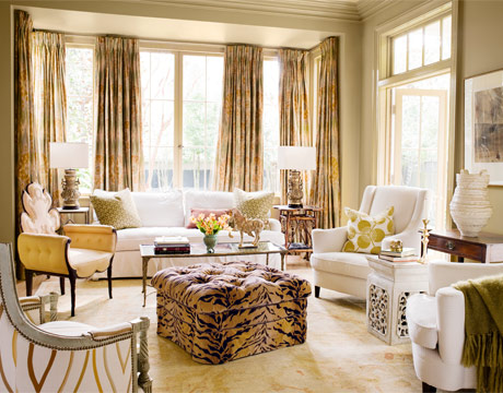 Animal print living room decorating ideas home designs for Formal living room ideas