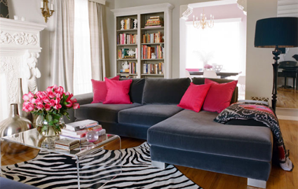 animal print living room decorating ideas | Home Designs Project
