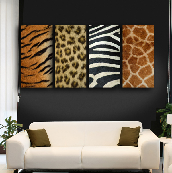 animal print living room decorating ideas home designs ForAnimal Print Living Room Decorating Ideas