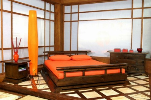 asian orange bedroom ideas