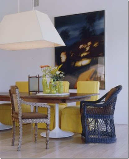dining table with mixed chairs