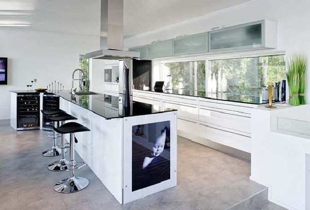glass kitchen cabinets tables